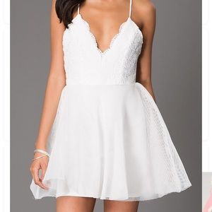 brand new short white dress!